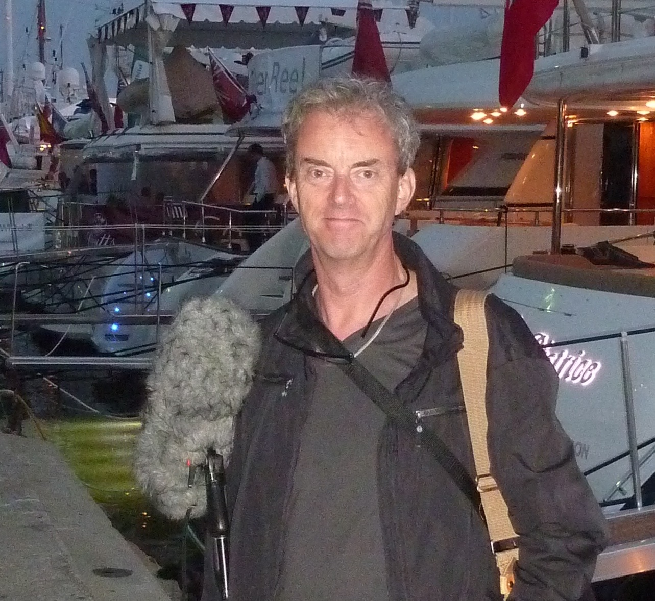 Chris Wherry on location in Cannes