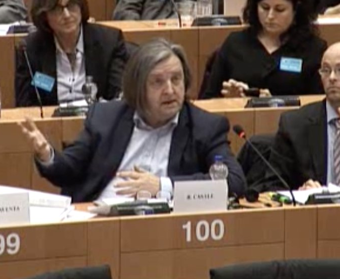 "Roger Casale of New Europeans gives testimony at the joint hearing on ""Citizens' rights after Brexit"""
