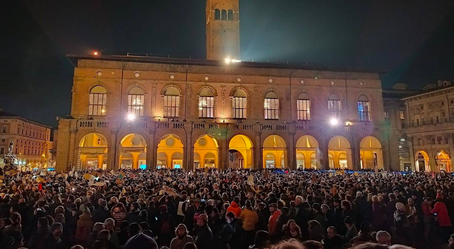 Anti-fascists in 2019, Bologna, Italy