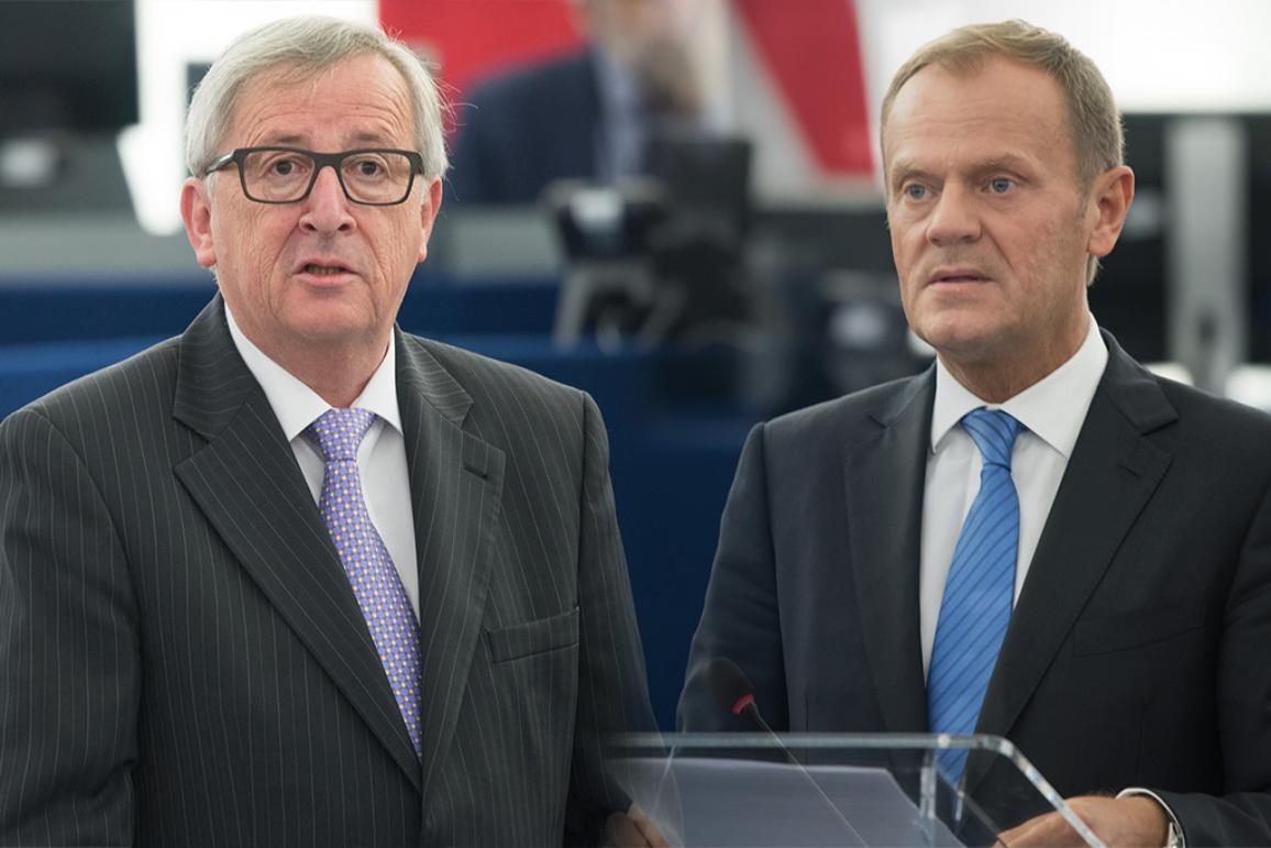 Commission President Jean-Claude Juncker and EU Council President Donald Tusk
