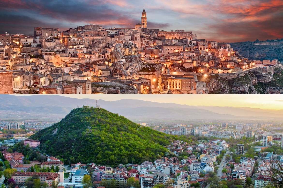 Capitals of Culture: Matera (top) and Plovdiv © AP Images/European Union-EP