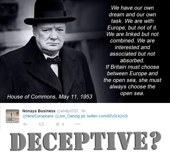 Did Churchill really say this in Parliament?
