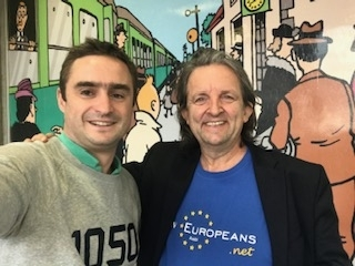 Councillor Betrand Wert (left) and Roger Casale, New Europeans, in Brussels