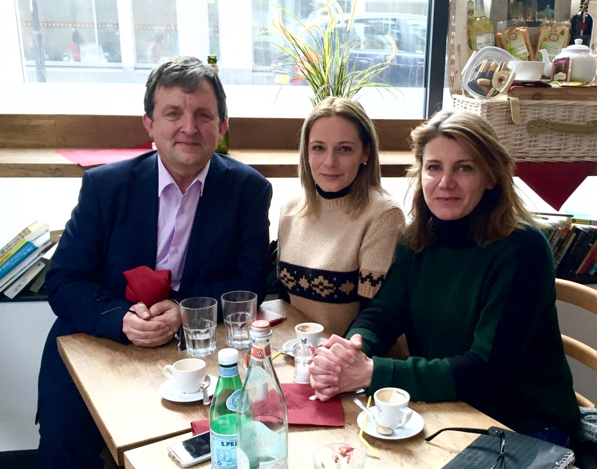 Regina Catrambone, founder of MOAS with Roger Casale, New Europeans and Annalisa Piras, Wake Up Foundation in London