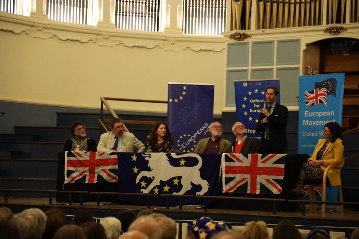 Dr. Ruvi Ziegler, Chair of New Europeans UK, Oxford Town Hall, 31/01/2020