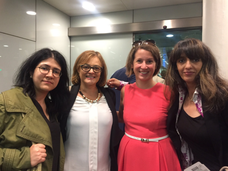 EU citizens are taking charge  (left to right: Maria Spirova, Luisa Maccalli, Maire-Noelle Loewe, Samia Badani, en route to meet Mr Barnier's team in Brussels)