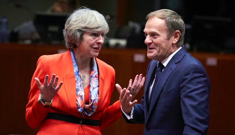 Donald Tusk humours Theresa May but the gulf between them in huge