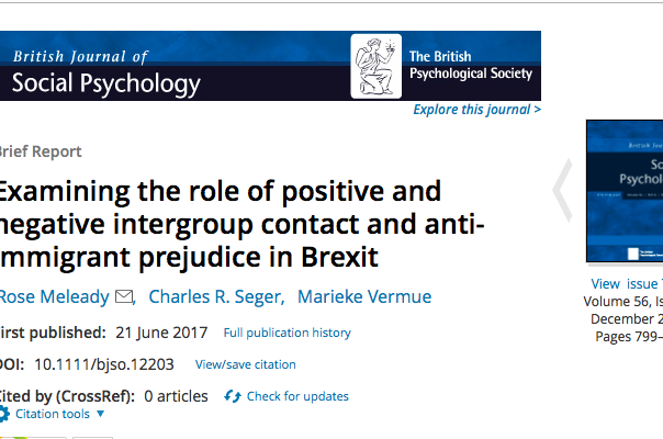Does contact with migrants impact on anti-migrant prejudice