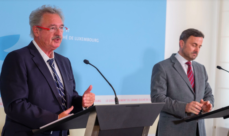 Jean Asselborn (left) , Froreign Minister and Xavier Bettel, Prime Minister; Photo: Luxembourg Times