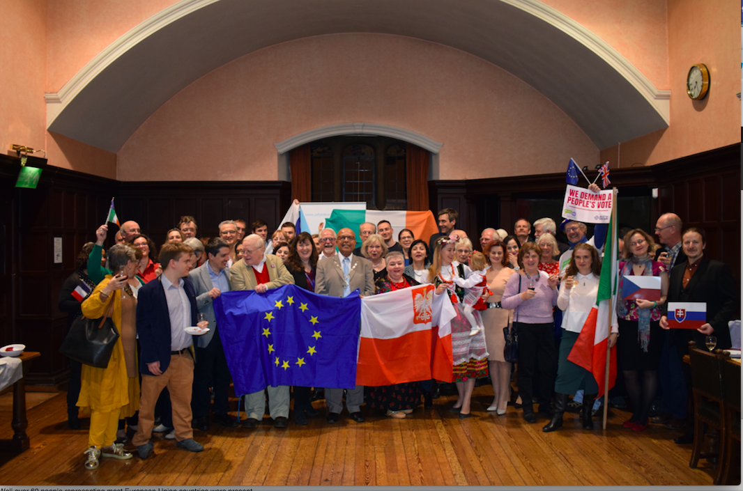 Oxford Town Hall celebrating European unity in diversity
