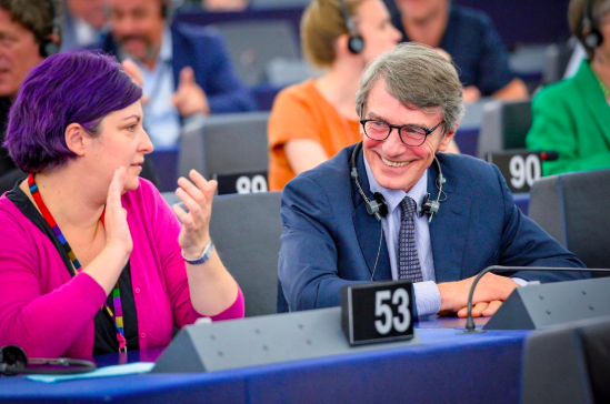 On 3 July 2019, David Sassoli is elected with 345 votes as the new President of the European Parliament© European Union 2019 - EP