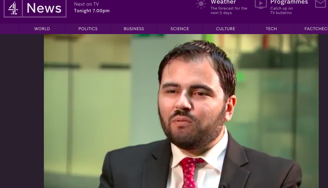 Michael Arapis interview on Channel 4 News