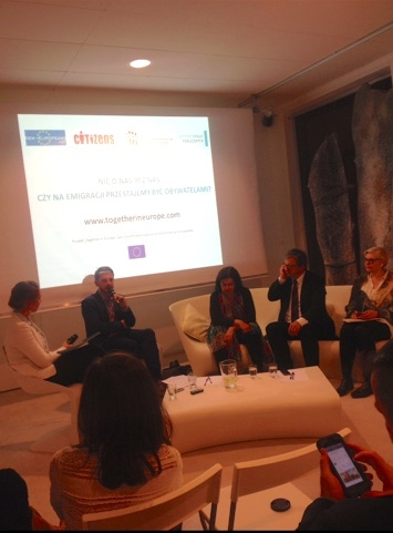Panel discussion on how to stay citizens while living abroad, Warsaw