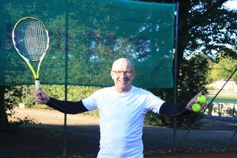 Povl Christian Henningsen working out how to better serve up Europe at the Odder Tennis Club