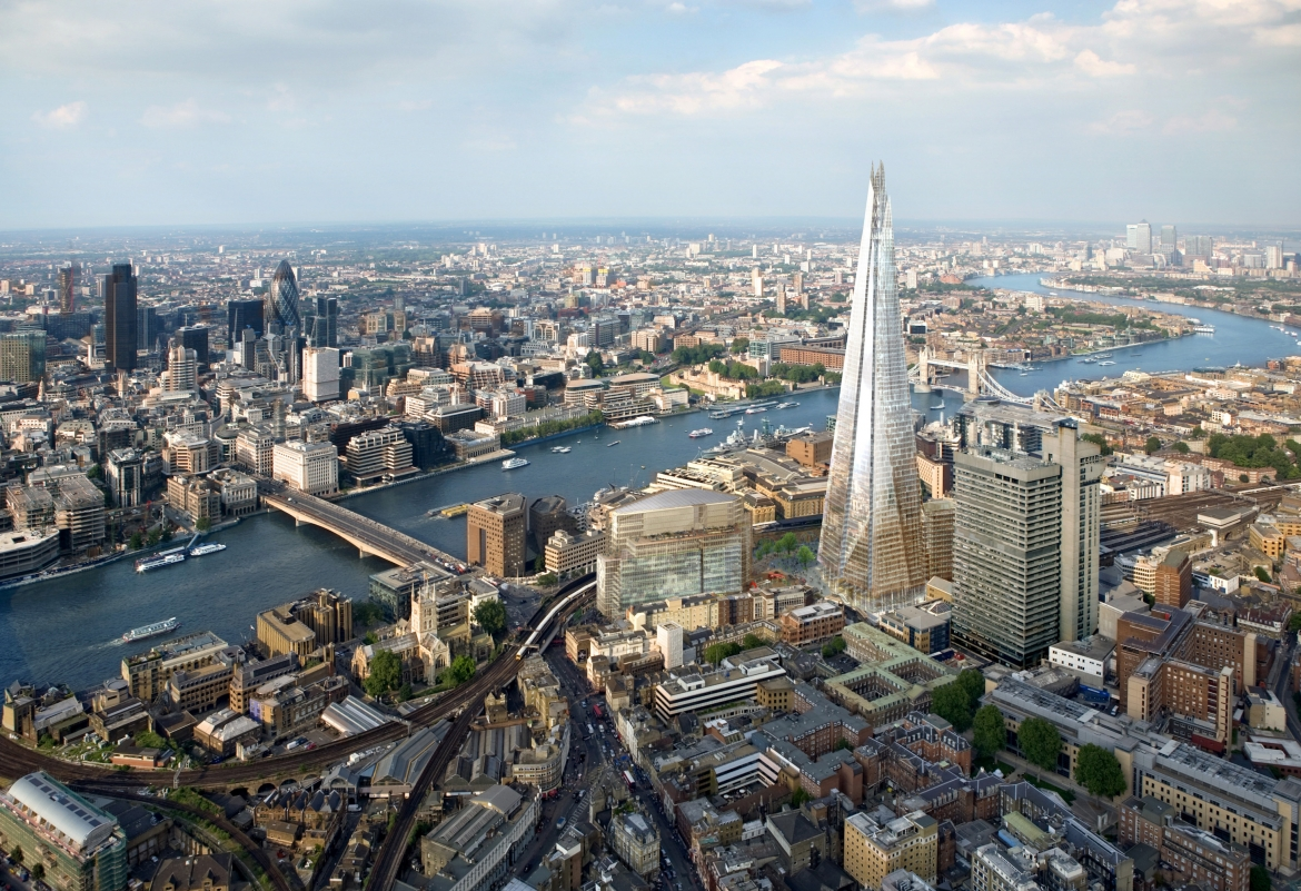 Our London office is a stone's throw from Italian architect, Renzo Piano's Shard