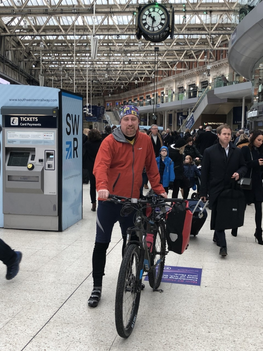 Arriving at Waterloo station, 31/01.20
