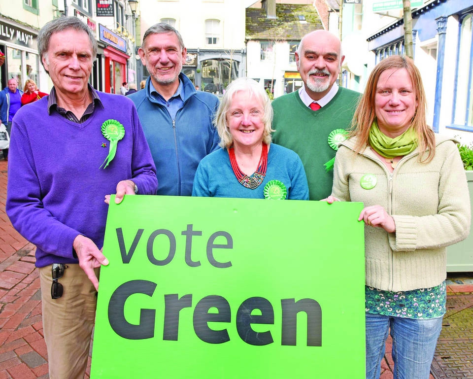 Alan Todd (left) and colleagues from the Green Party in Copeland