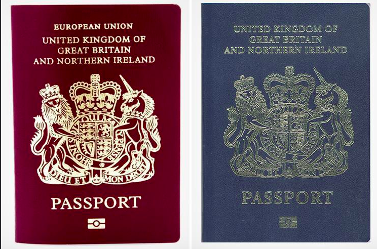 Government reveals new navy blue passport cover but it can't disguise fact that the passport will be worth much less than before